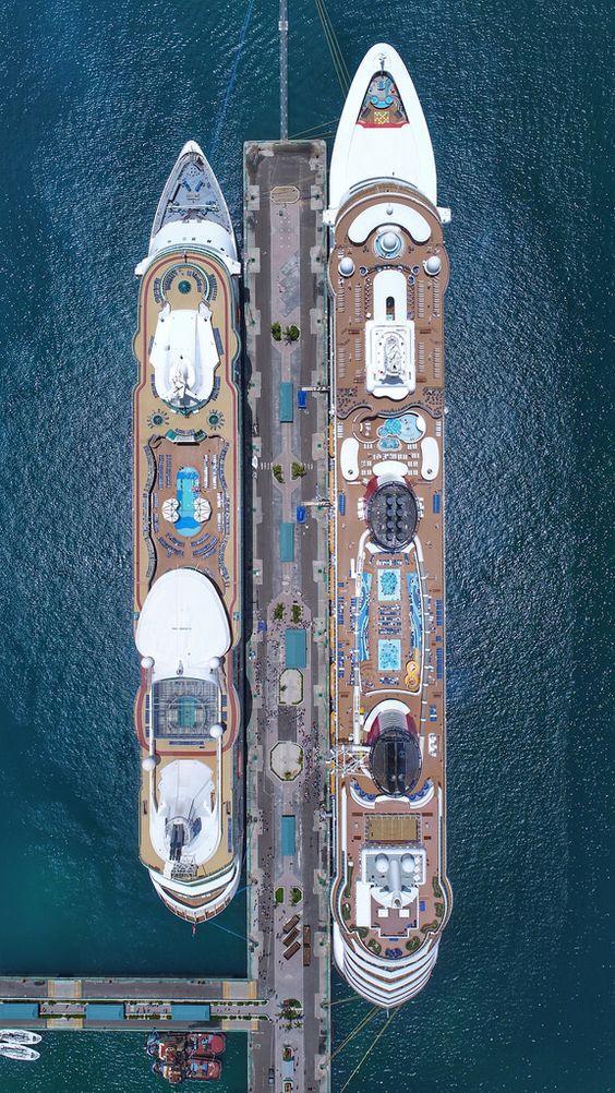 Nassau Bahamas cruise ship terminal captured 06/26/2018