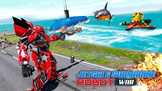 Jet Ski Robot Game: Submarine Robot Transformation 3