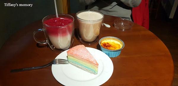 嘉義市中山路上,一個禮拜只賣4天,甜而不膩、色彩繽紛的彩虹千層蛋糕-藏咖啡
