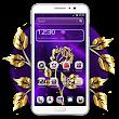 Golden Purple Flower Theme Launcher