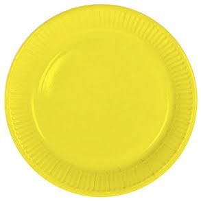 Tallrik, gul