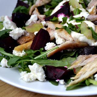 Mackerel and Beetroot Salad with a Horseradish Dressing.