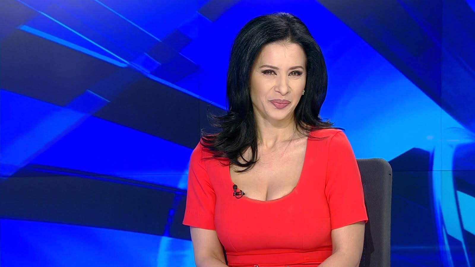 Red hot news anchor