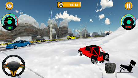 Offroad Jeep - Extreme Mountain Snow Driving APK screenshot thumbnail 5
