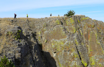 Photo: Notice the layers of igneous rock.