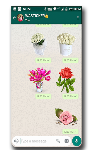 Screenshot for WAStickerApps - Flowers in Hong Kong Play Store