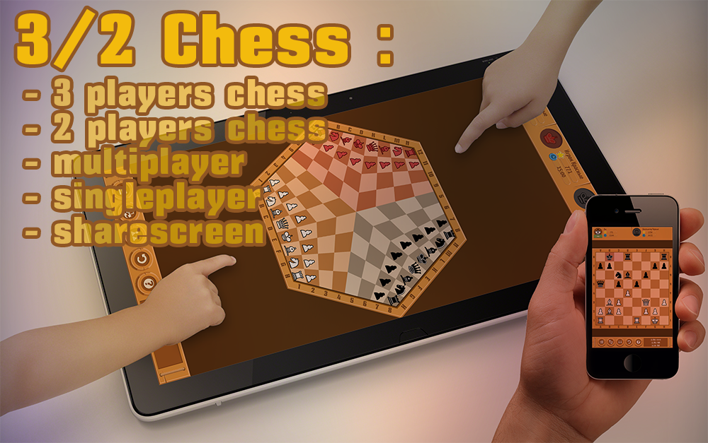 3/2 Chess: Three Players Chess- screenshot