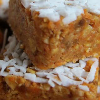 Nut-Free, Raw, Vegan Carrot Cake.