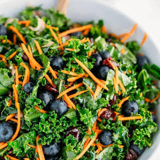 Kale Salad with Blueberries (make-ahead recipe).