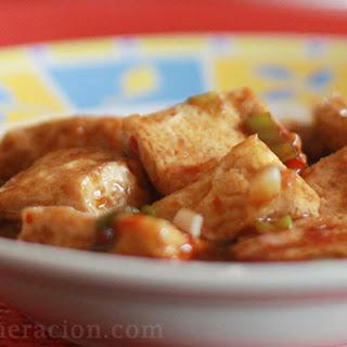 Silken Tofu With Three Four Sauces