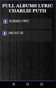 Charlie Puth Full Albums Lyric - náhled