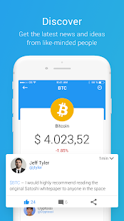 investFeed Cryptocurrency Social Network- screenshot thumbnail