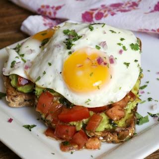 Bruschetta Fried Egg Avocado Toast Recipe