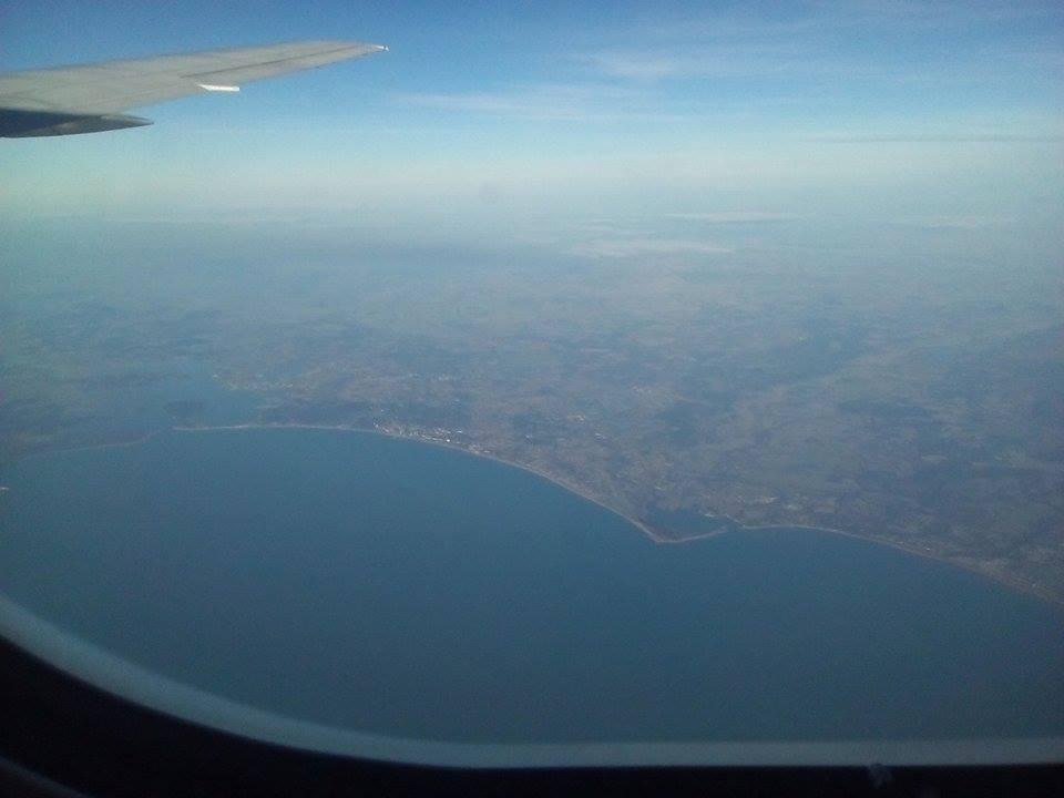 Pohľad na Gambiu z lietadla