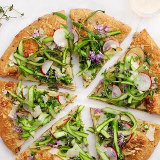 Farmers Market Asparagus & Potato Pizza.