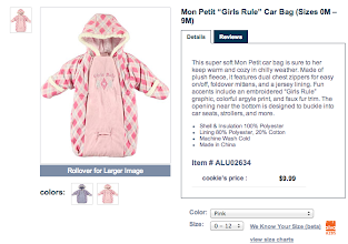 Photo: This is perfect! Easy to get baby girl in and out of. Plus, for 10 bucks I can't go wrong.