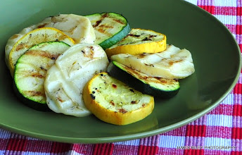 Photo: Grilled Scamorza and Vegetables