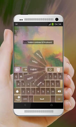免費下載個人化APP|ゴールデン虹 GO Keyboard app開箱文|APP開箱王
