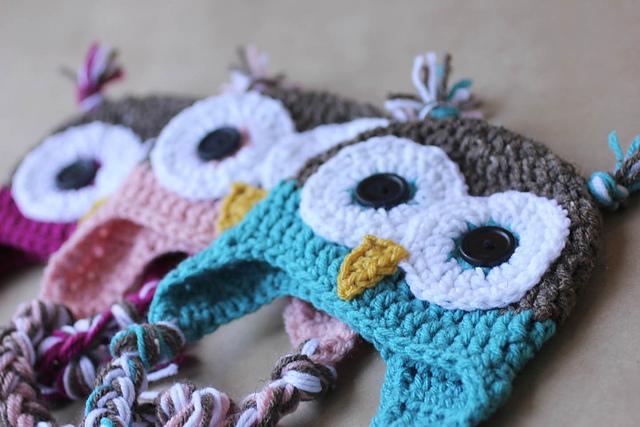 crochet Christmas gift idea - owl hat