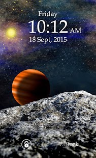 Planet Keypad Lock Screen screenshot