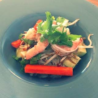 Vietnamese Spicy Shrimp and Veggie Noodle Salad.