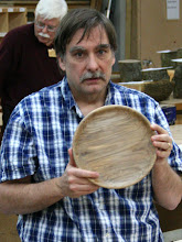 Photo: Tim Aley shows the interesting pattern on the front of his plate.