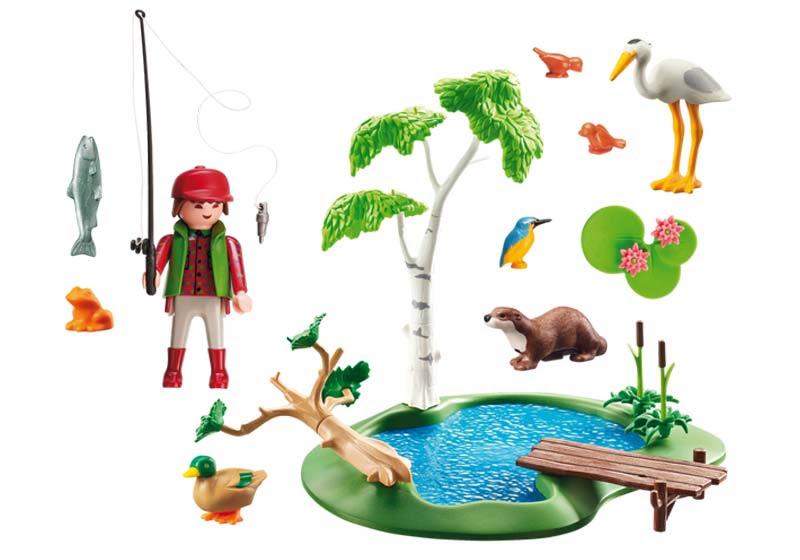 Contenido real de Playmobil® 6816 Lago con Animales