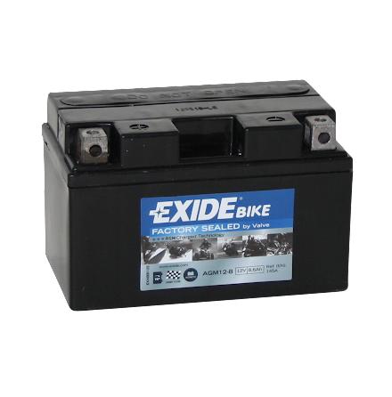Tudor Exide AGM batteri 12V/8,6Ah
