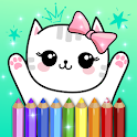 Coloring Pages Kids Games with Animation Effects icon