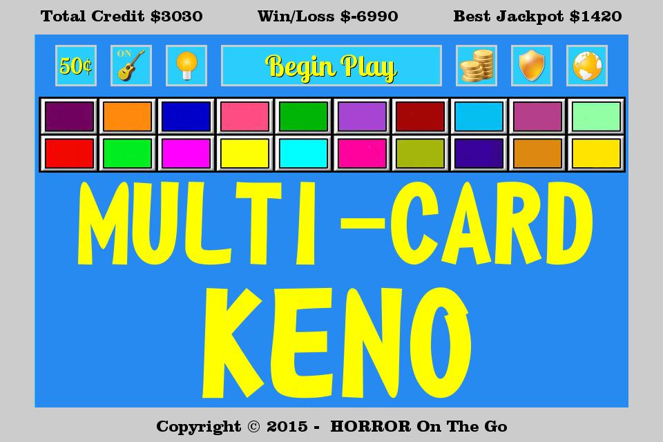 7 spot keno payouts chart