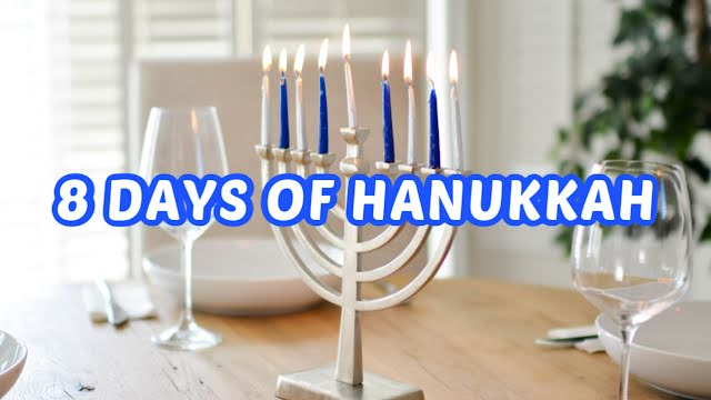 8 Days of Hanukkah - Hanukkah Template