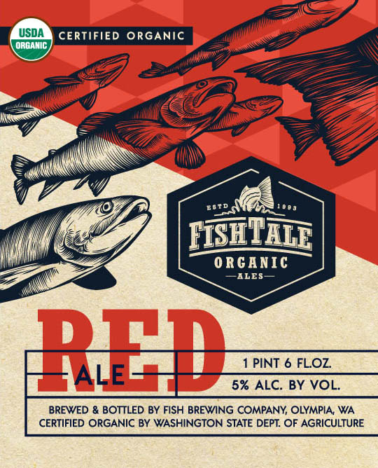 Logo of Fish Tale Organic Red