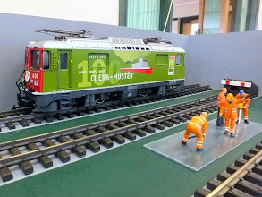 Photo: 013 One of Roger Trim's very impressive G scale Swiss electric locos .