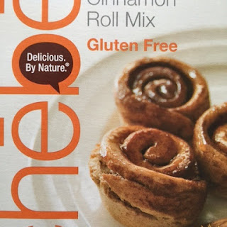 Chebe Cinnamon Roll Mix used for Gluten Free Doughnuts.
