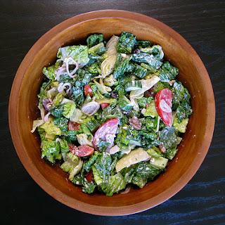 Greek Salad with Creamy Feta Dressing Recipe