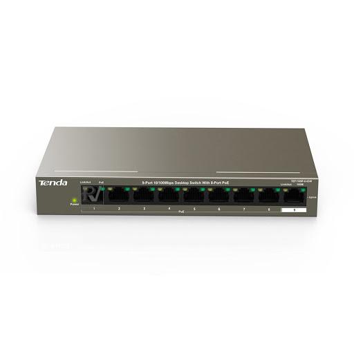 Thiết bị mạng/ Switch PoE Tenda 9P TEF1109P