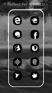 S9 / Note 8 Dark Black Amoled UI - Icon Pack Screenshot