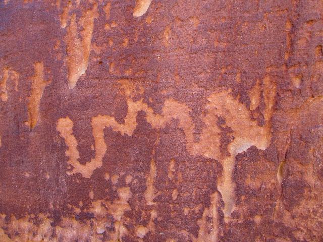 Wavy line petroglyph