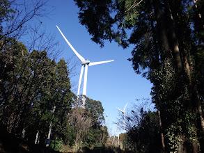 風車が続く