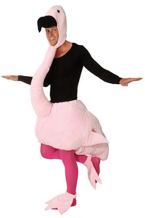 Partydräktm flamingo