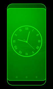 Stylish Analog Clock Live Wallpaper - náhled