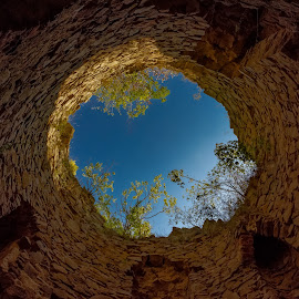 oculus by Marius Barbos - Buildings & Architecture Public & Historical ( history, watch tower, historical, stones, medieval, citadella )
