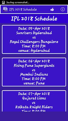 IPL 2018 Schedule 1.5 screenshots 2