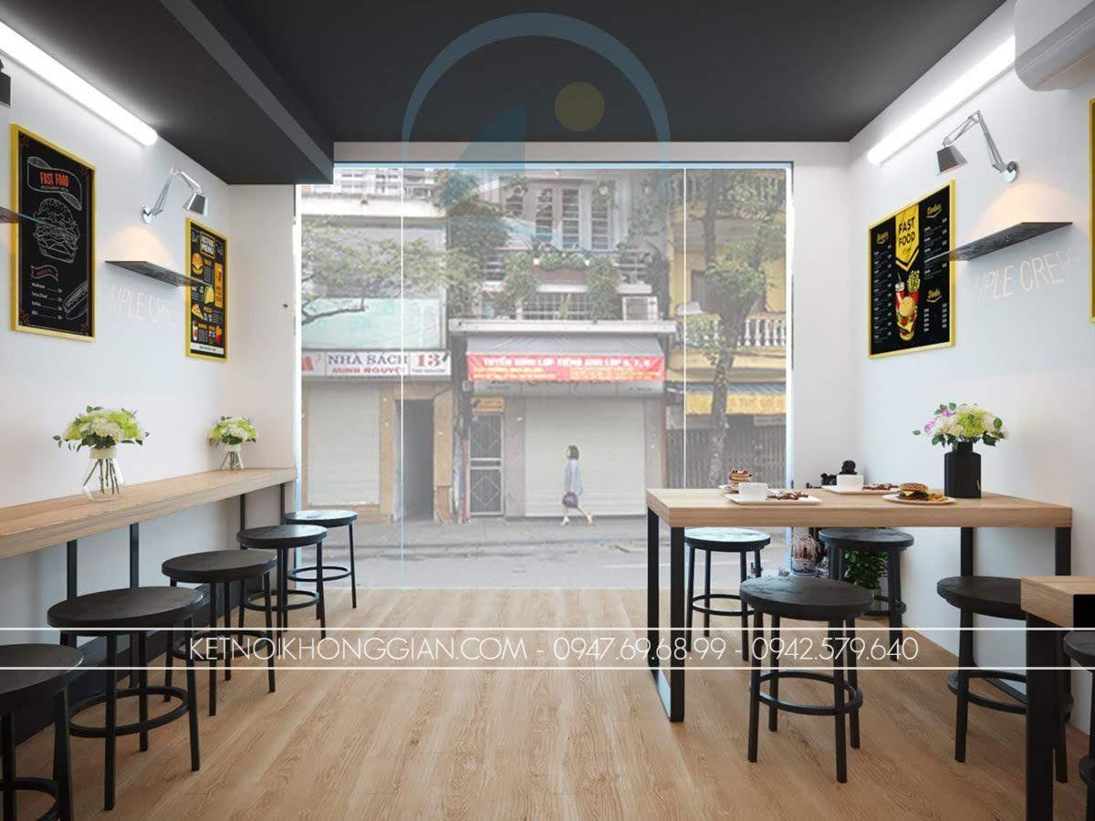 thiết kế quán ăn nhỏ đẹp mắt