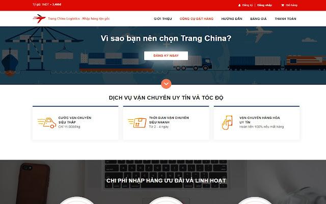 Công cụ hỗ trợ đặt hàng của Trang China
