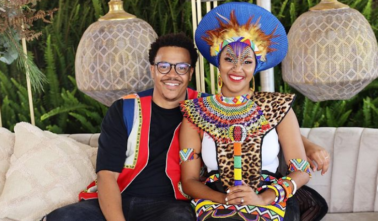 'Idols SA's' Brendan Praise and his wife Mpoomy Ledwaba had a stunning traditional wedding this past weekend.