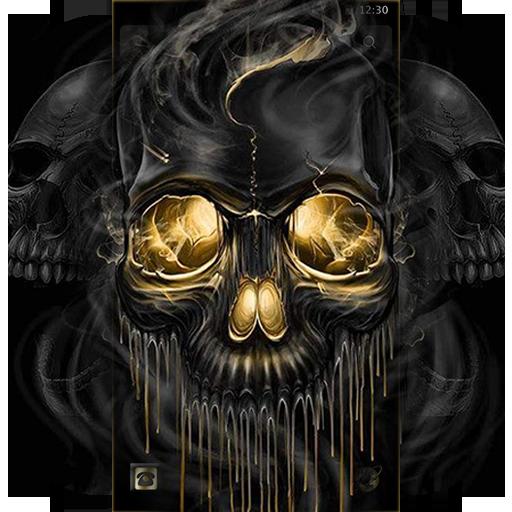 Gold Black Horrific Skull Theme App Su Google Play