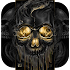 Gold Black Horrific Skull Theme