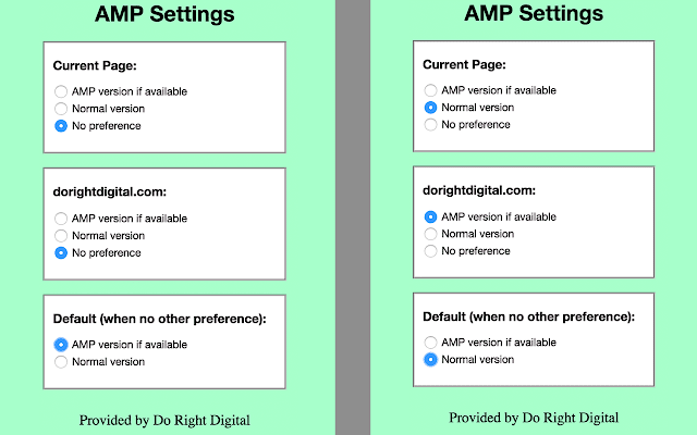 AMP Accelerated Mobile Page Reader chrome extension