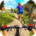 Downhill Superhero Kids Bicycle Rider: MTB Cycle icon